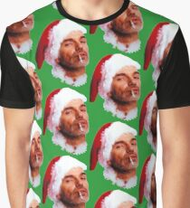 Bad Santa Smoking Graphic T-Shirt