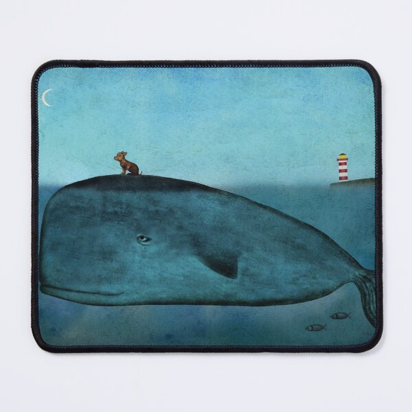 Whale and dog Mouse Pad