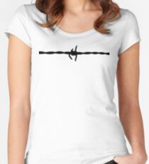 Barb Wire - for Shirts and Hoodies Women's Fitted Scoop T-Shirt