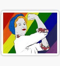 Betty the Bomb Girl (LGBT) Sticker