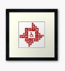 Medicine the designer Framed Print