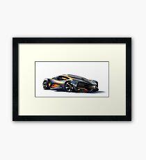 Lada Raven Vector Art Framed Print