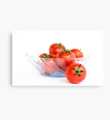 Bowl of Tomatoes Canvas Print