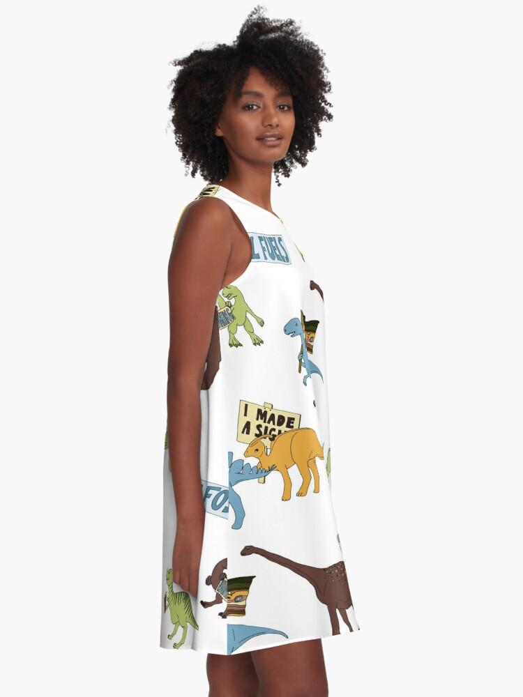 Alternate view of Dino Activists A-Line Dress