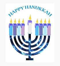 Happy Hanukkah Menorah Photographic Print