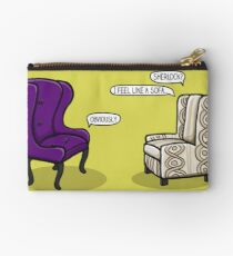 Consulting Armchair and Army Upholstery Studio Pouch