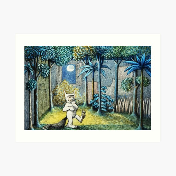 Where the Wild Things Are - Max in the jungle Art Print