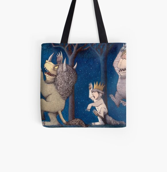 Where the Wild Things Are Wild Rumpus at night All Over Print Tote Bag