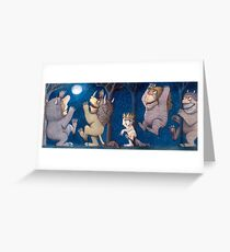 Where the Wild Things Are Wild Rumpus at night Greeting Card