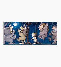 Where the Wild Things Are Wild Rumpus at night Photographic Print