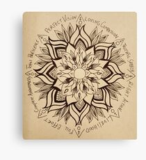 Wheel Mandala of Dharma  Canvas Print