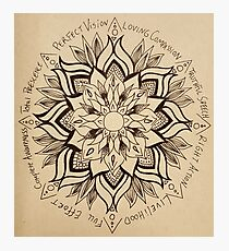 Wheel Mandala of Dharma  Photographic Print