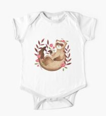 floral ferret bud One Piece - Short Sleeve