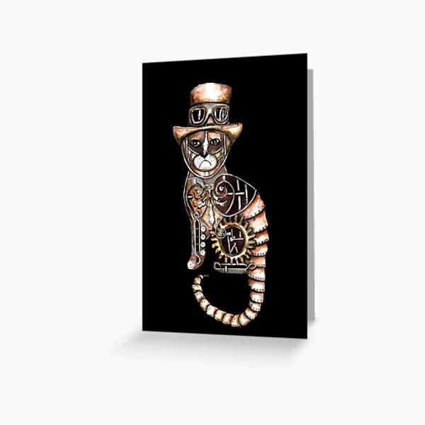 Steampunk kitty Greeting Card