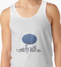 f7753fa17 Come fly with me (dragonflies and text) Men's Tank Top