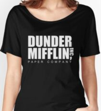 DUNDER Paper Company Women's Relaxed Fit T-Shirt