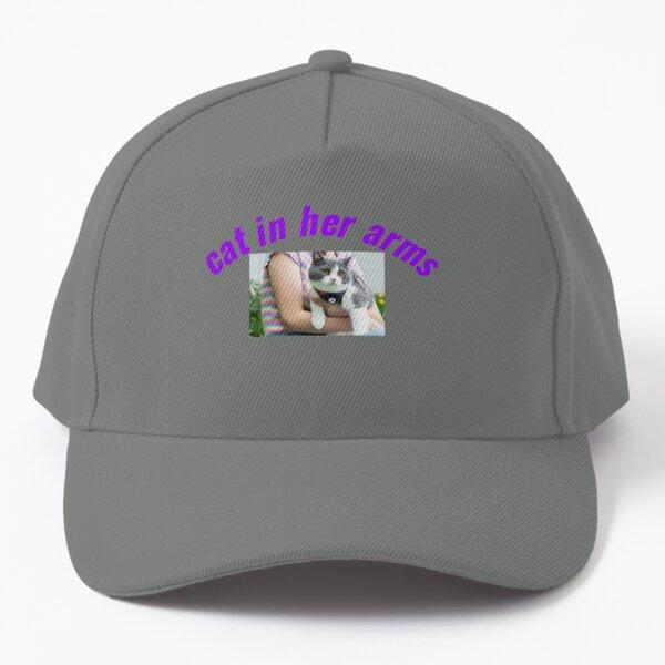 cat in her arms Baseball Cap