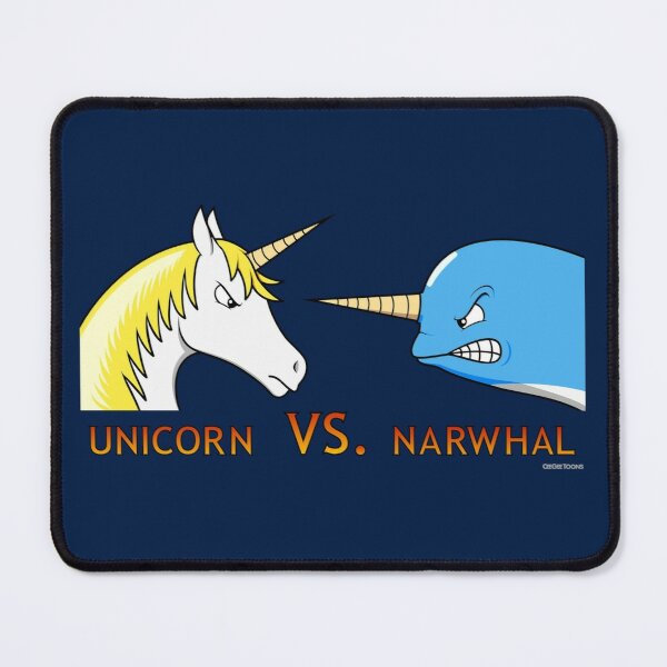 Unicorn Vs. Narwhal Mouse Pad