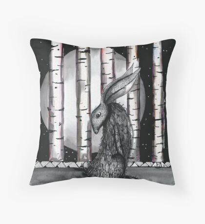 A midnight dreary Throw Pillow