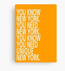 You know New York - Tongue Twisters Canvas Print