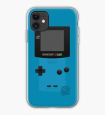 Blue Nintendo Gameboy Color iPhone Case