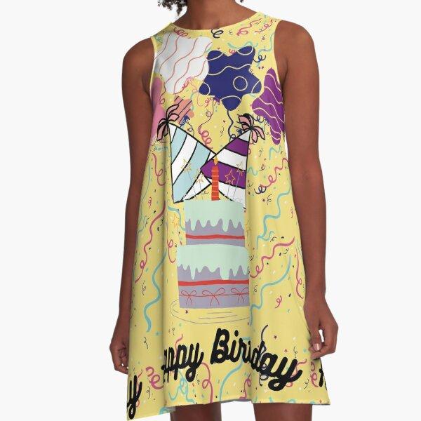 Happy Birthday A-Line Dress