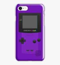 Purple Nintendo Gameboy Color iPhone Case/Skin