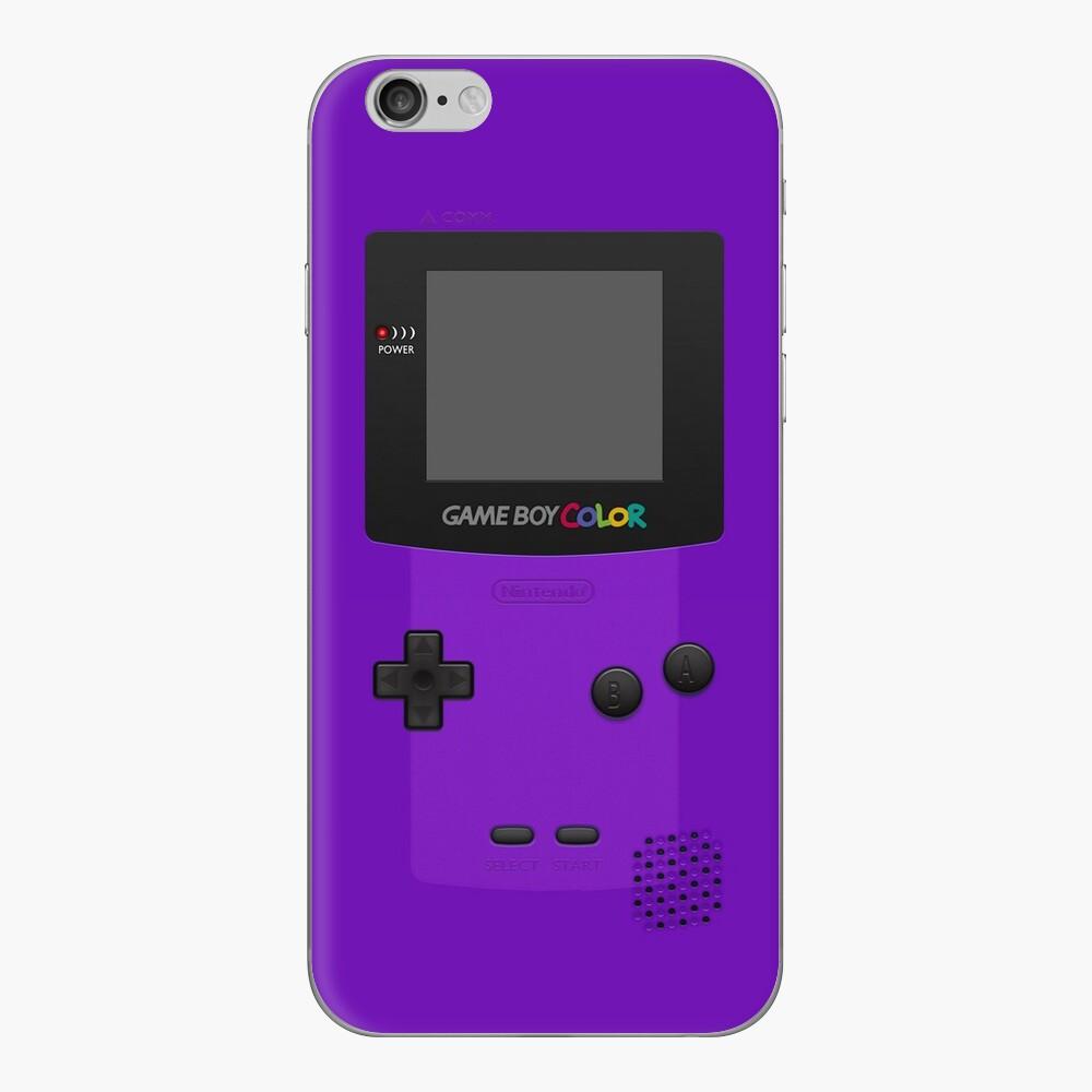 Lila Nintendo Gameboy Farbe iPhone Klebefolie