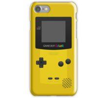 Yellow Nintendo Gameboy Color iPhone Case/Skin