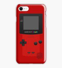 Red Nintendo Gameboy Color iPhone Case/Skin