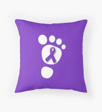 World Prematurity Day - Baby Foot Throw Pillow