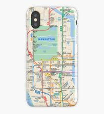 MTA Subway Map New York Manhattan Phone Case iPhone Case