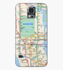 MTA Subway Map New York Manhattan Phone Case Case/Skin for Samsung Galaxy