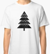 Christmas 2016 - Christmas Tree Design - Black and White Classic T-Shirt