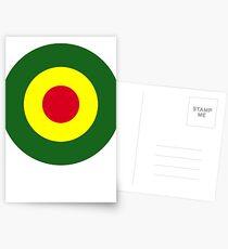 Rasta Mod Target Postcards