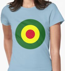 Rasta Mod Target Womens Fitted T-Shirt