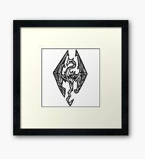 Skyrim Logo Dovah Dragon Framed Print