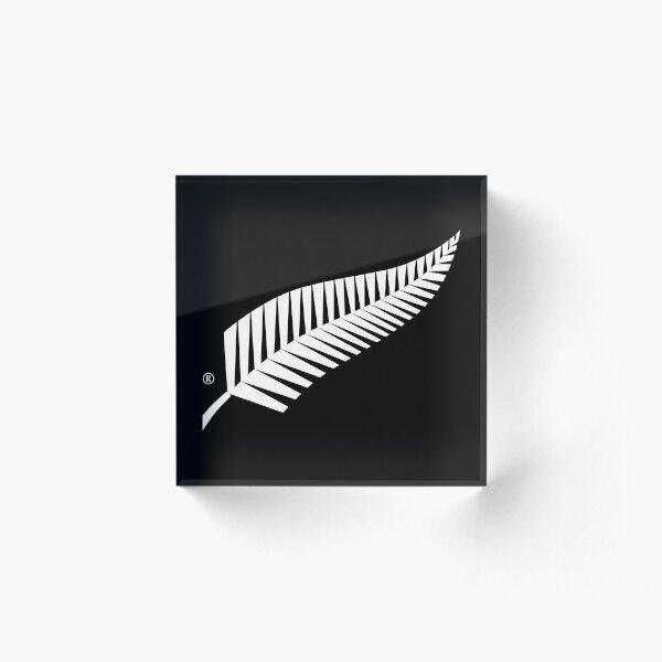 New Zealand Silver Fern Aotearoa Acrylic Block