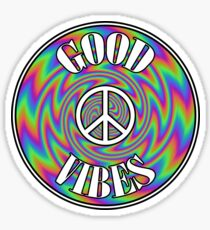 Peace Good Vibes Sticker