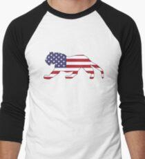 American Flag – Tiger Men's Baseball ¾ T-Shirt
