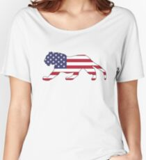 American Flag – Tiger Women's Relaxed Fit T-Shirt