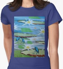 Frogs On Lilly Pads With Lotus Flowers T-Shirt