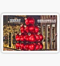 Christmas On 5th Avenue Manhattan Sticker