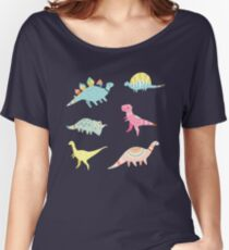 Dinosaur Pattern Women's Relaxed Fit T-Shirt