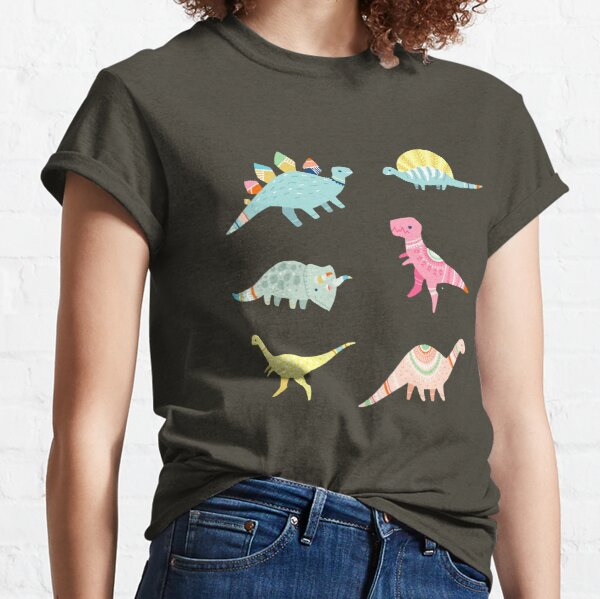 Dinosaur Pattern Classic T-Shirt