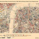 Booth's Map of London Poverty for Bishop's ward, Westminster by ianturton