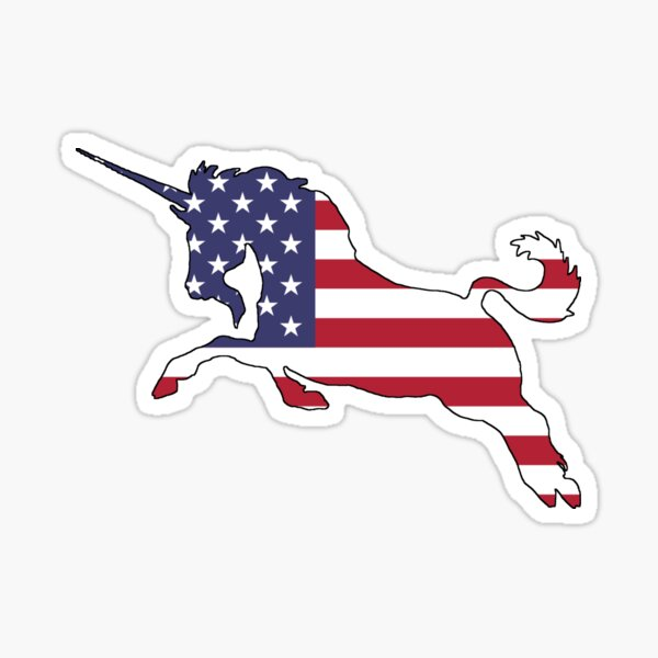 American Flag – Unicorn Sticker