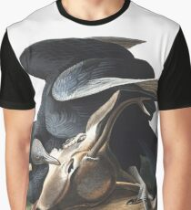 Black Vulture, or Carrion Crow, by John Audubon Graphic T-Shirt