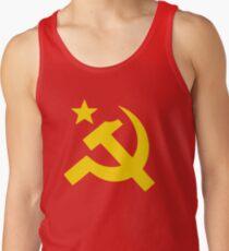 Communism Hammer Sickle Flag Tank Top