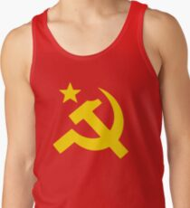 Communism Hammer Sickle Flag Tank Top